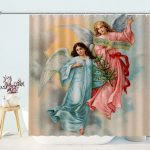 Christmas Angels Shower Curtains