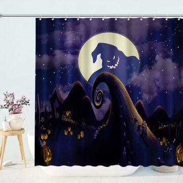Nightmare Before Christmas Ghost Moonnight Shower Curtain