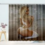 Sexy Pin Up Girl Shower Curtain