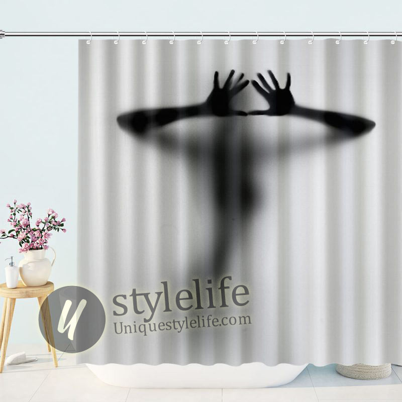 Black and White Get Naked Sexy Woman Bathroom Decor Shower Curtain