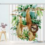 Sloth Cute Cartoon Shower Curtain