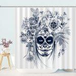 Sugar Skull Flowers Day Dead Women Shower Curtains