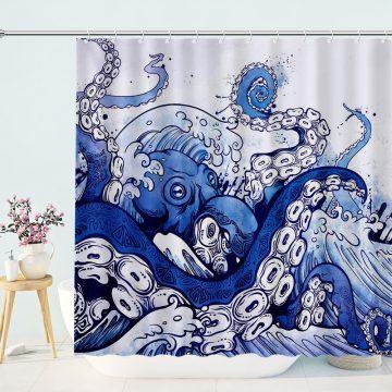 Unique Octopus Shower Curtains