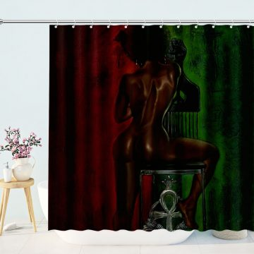 The Blackness Bathroom African Shower Curtains