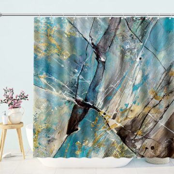 Abstract Mixed Trippy Shower Curtain