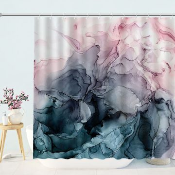 Abstract Watercolour Textures Shower Curtain