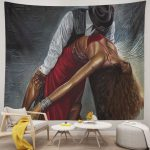 African American Couple Dancing Tapestries
