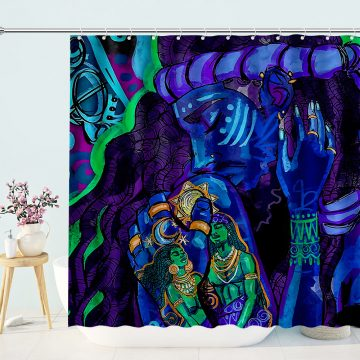 Afro Sexy Lover Couple Shower Curtain