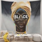 Afro Woman Black Sunglasses African American tapestry