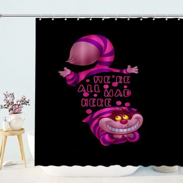 Alice in Wonderland CAT Shower Curtain