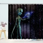 Alien Research The Earth Shower Curtain
