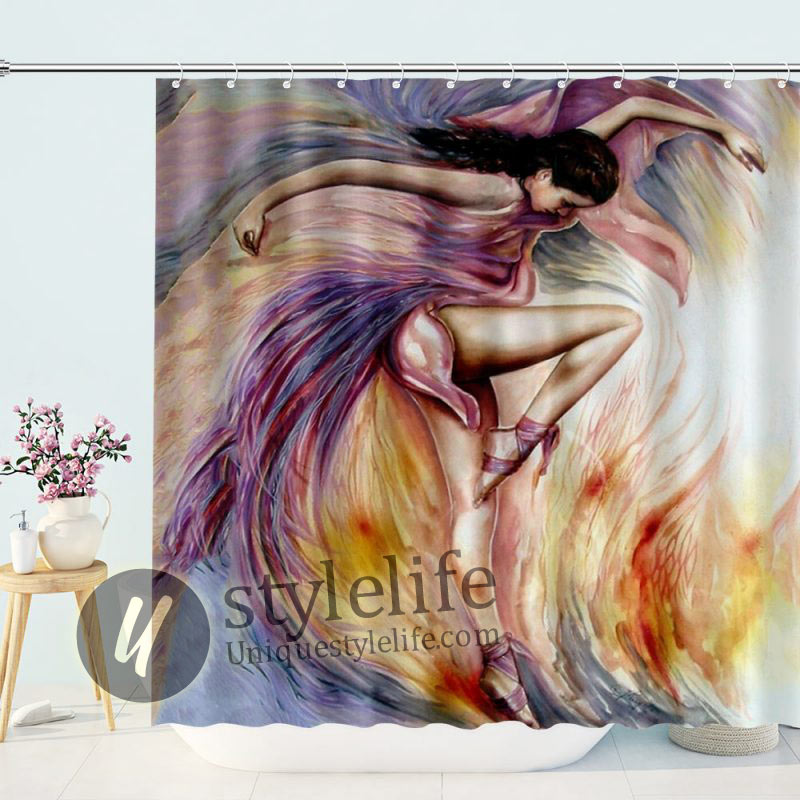 Artwork Dance Movement Shower Curtain