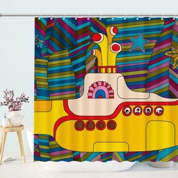 Beatles Yellow Submarine Shower Curtain