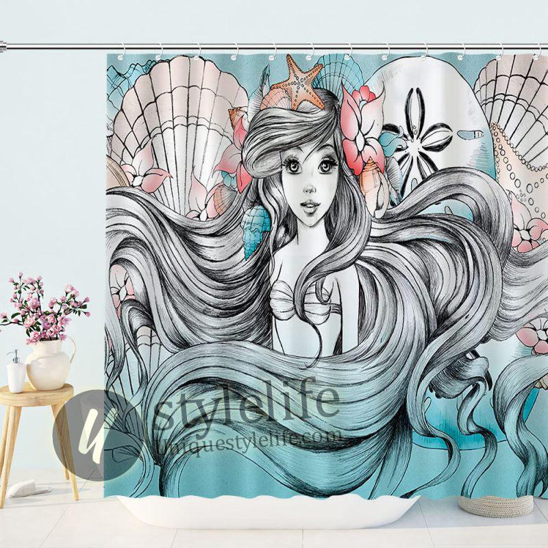 Beauty Merrow Mermaid Shower Curtain