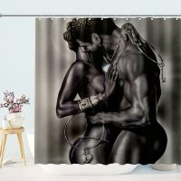 Black-African-American-Lover-Shower-Curtain-2
