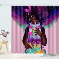 Black-Girl-Watercolor-Shower-Curtain