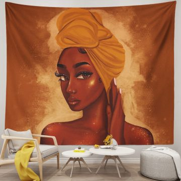 Black Women African American Tapestry Wall Hanging