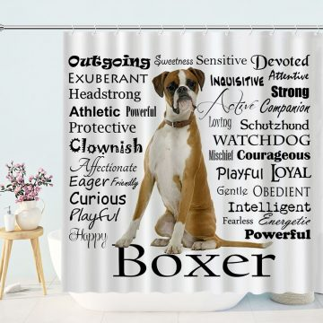 Boxer Hund Dog Shower Curtain