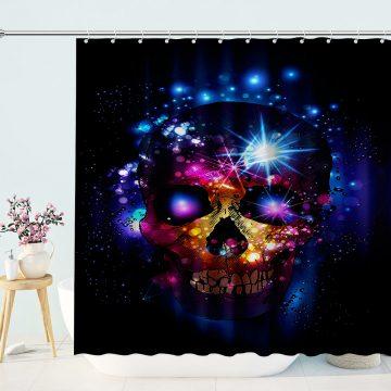 Bright Halloween Skull Shower Curtain