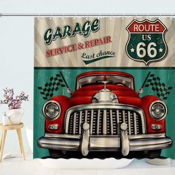 Broadwater Route US 66 Shower Curtain