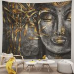 Buddha Religion Tapestry Art Wall Hanging