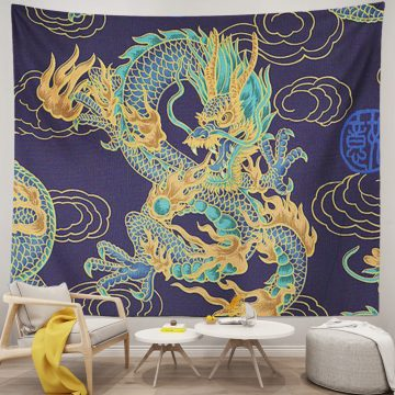 Chinese Dragon design Wall Tapestry