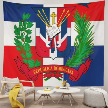 Coat of Arms of The Dominican Republic Unique Tapestries