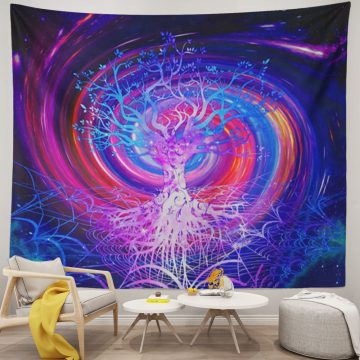 Cool Trippy Tapestry Galaxy Purple Nature Wall Hanging