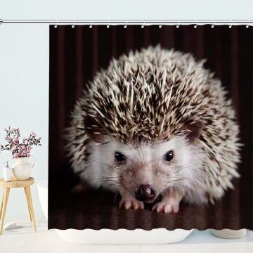 Cute Hedgehog Animal Shower Curtain