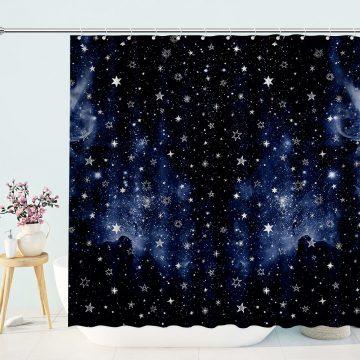 Dark Night Galaxy Dazzling Stars Shower Curtain