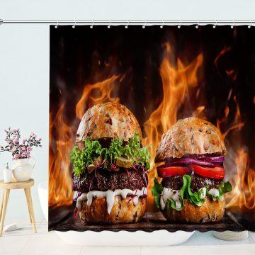 Delicious American HamburgerShower Curtain