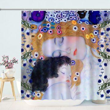 Design Gustav Klimt Mother Child Shower Curtain