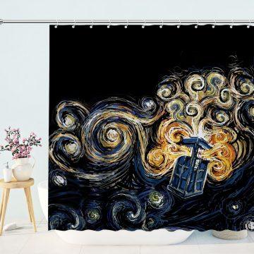 Doctor Who Tardis Starry Night Shower Curtain