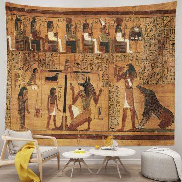 Egyptian Gods Pharaohs Hieroglyphic Ancient Egypt Tapestry