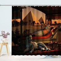 Egyptian-Queen-With-Leopard-Shower-Curtain