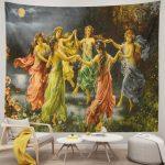 European Fairy Six Skirt Girls Dancing Unique Tapestry