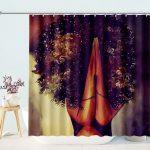 african girl magic melanin praying black queen shower curtain