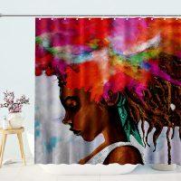 Fashion-Black-Girl-Shower-Curtain