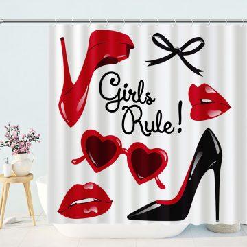 Fashion Girls Rule Shower Curtain