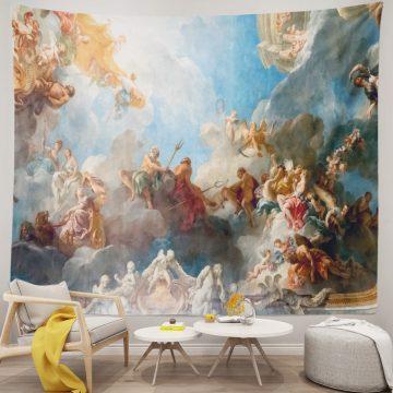 France April 18 Ceiling Painting Chateau Versailles Unique Tapestries