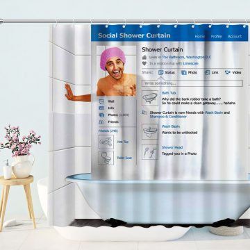 Funny Social Interface Shower Curtain