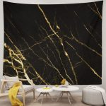 Gold Marble Texture Tapestry Wall Hanging