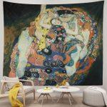 Gustav Klimt Die Jungfrauen The Maiden Wall Tapestry