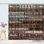 Inspirational Quote Plank Shower Curtain
