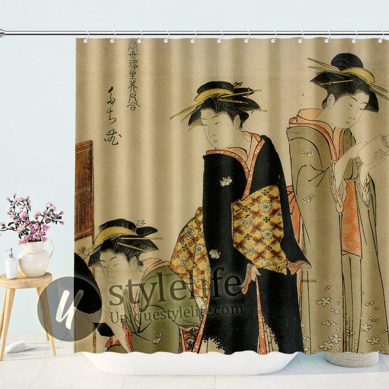 Japanese women Geishas Shower Curtain