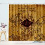 Jennifer Waterproof Decorative Marauder's Map Harry Shower Curtain