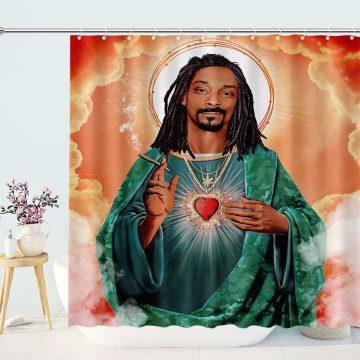 Jesus Smokes Weed Shower Curtain