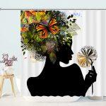 Madame Butterfly Flower Shower Curtain