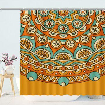 Mandala Boho Bathroom Shower Curtain