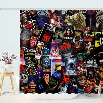 Movie Posters Collection Shower Curtain